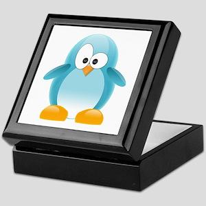 Blue Penguin Keepsake Box