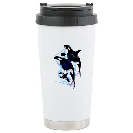 Orca Family Stainless Steel Travel Mug