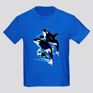 Orca Family Kids Dark T-Shirt