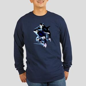 Orca Family Long Sleeve Dark T-Shirt
