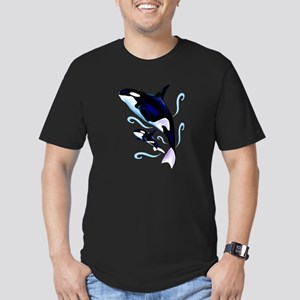 Orca Mom and Baby Men's Fitted T-Shirt (dark)