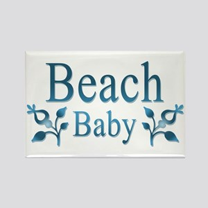 Beach Baby Flowers Rectangle Magnet