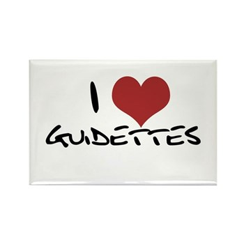 I Heart Guidettes Rectangle Magnet