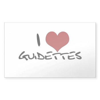 I Heart Guidettes Sticker (Rectangle)