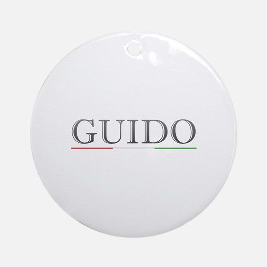 Guido Round Ornament