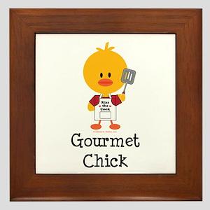Gourmet Chick Framed Tile