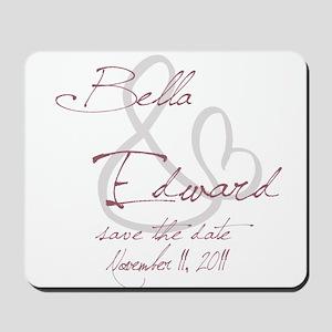 Bella & Edward Grey & Pink Sh Mousepad