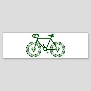 Green Bicycle Bike Cycling Sticker (Bumper)