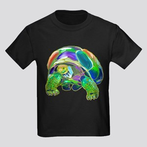 Rainbow Tortoise Kids Dark T-Shirt