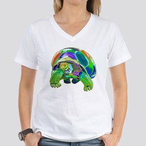 Rainbow Tortoise Women's V-Neck T-Shirt