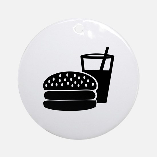 Fast food - Burger Ornament (Round)