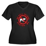 No Bull Saloon 1 Women's Plus Size V-Neck Dark T-S