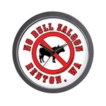 No Bull Saloon 1 Wall Clock