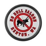 No Bull Saloon 1 Large Wall Clock