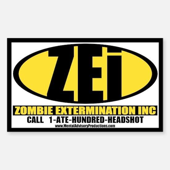 Zombie Extermination Inc Decal