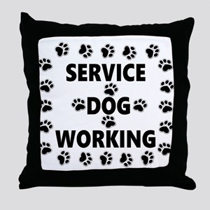SERVICE DOG WORKING Throw Pillow
