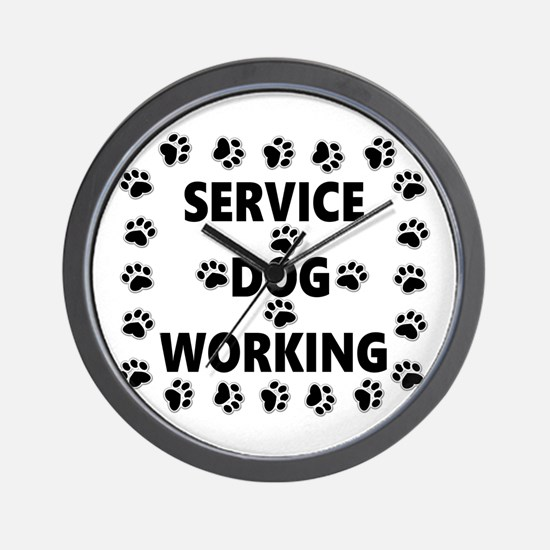 SERVICE DOG WORKING Wall Clock
