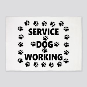 SERVICE DOG WORKING 5'x7'Area Rug