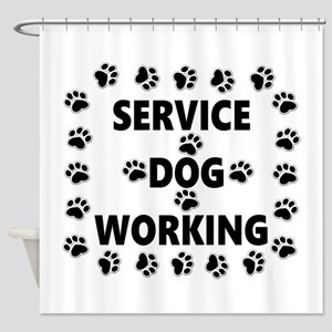 SERVICE DOG WORKING Shower Curtain