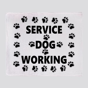 SERVICE DOG WORKING Throw Blanket
