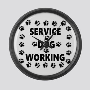 SERVICE DOG WORKING Large Wall Clock