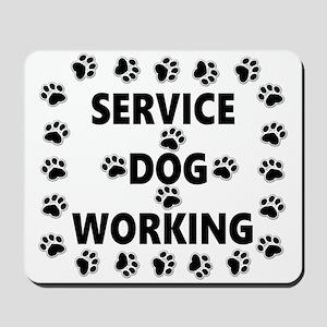 SERVICE DOG WORKING Mousepad