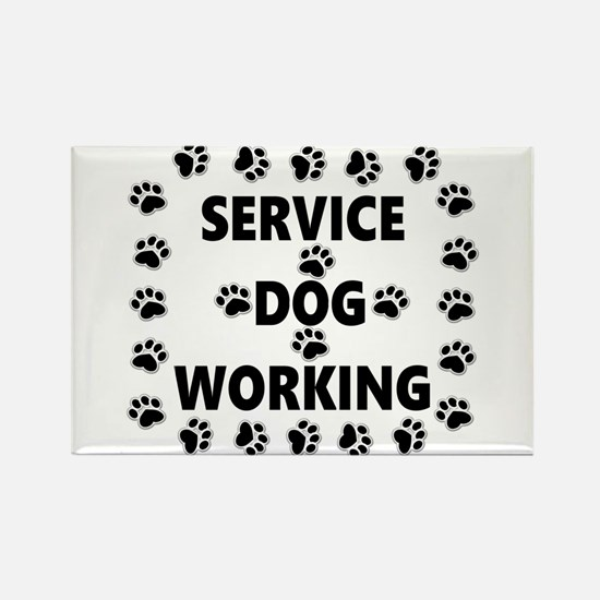 SERVICE DOG WORKING Magnets