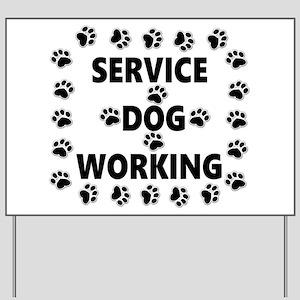 SERVICE DOG WORKING Yard Sign