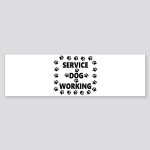 SERVICE DOG WORKING Bumper Sticker