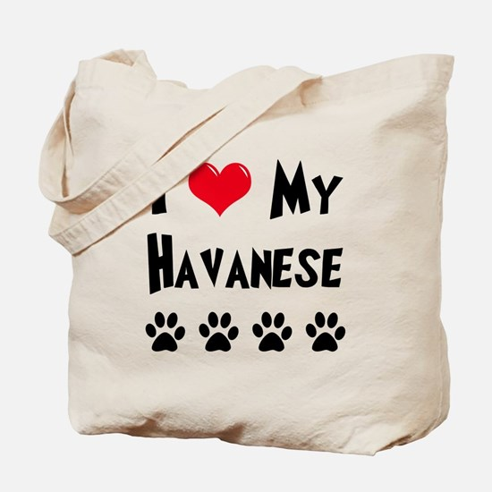 I Love My Havanese Tote Bag