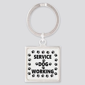 SERVICE DOG WORKING Keychains