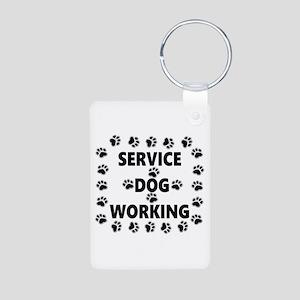 SERVICE DOG WORKING Keychains