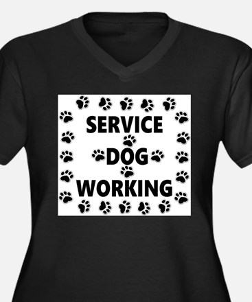 SERVICE DOG WORKING Plus Size T-Shirt