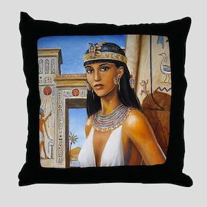 Amarna Lady Throw Pillow