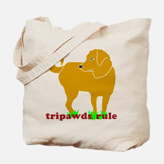 Golden Tripawds Rule Tote Bag