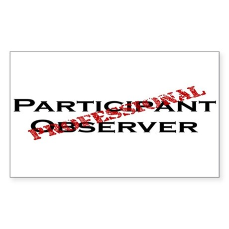 Participant Observer Sticker (Rectangle)