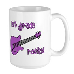 1st Grade Rocks! Guitar Large Mug