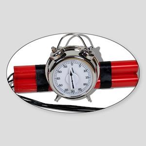 Dynamite Alarm Bomb Sticker (Oval)