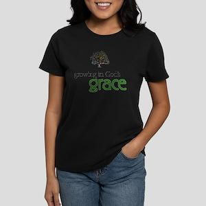 Growing In God's Grace Women's Dark T-Shirt