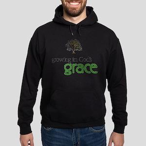 Growing In God's Grace Hoodie (dark)