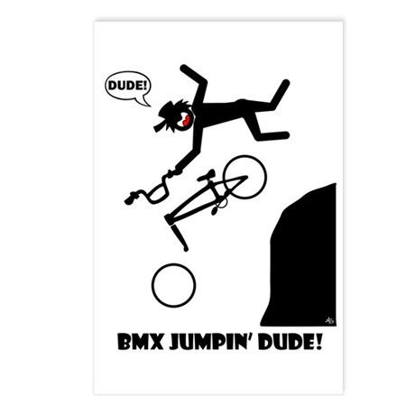 BMX JUMPIN' DUDE Cards, Bags, Postcards (Package o
