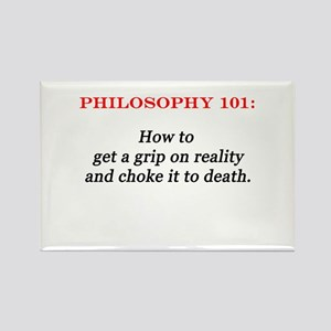 Philosophy 101 Rectangle Magnet