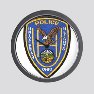 University Heights Police Wall Clock