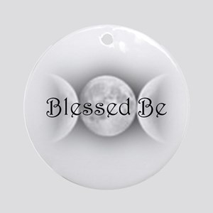 Blessed Be (triple crescent) Ornament (Round)