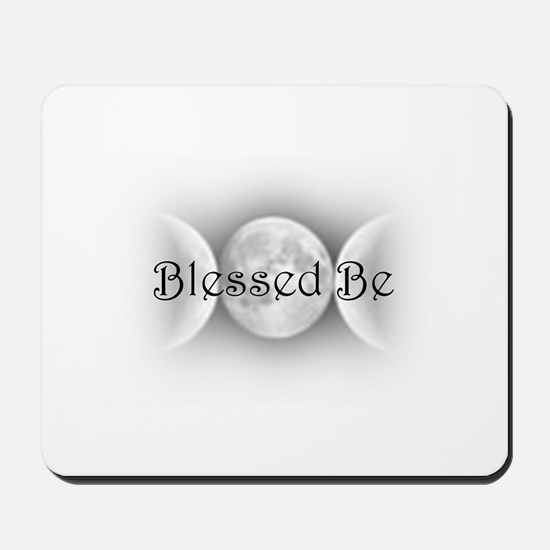 Blessed Be (triple crescent) Mousepad