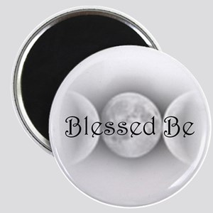 Blessed Be (triple crescent) Magnet