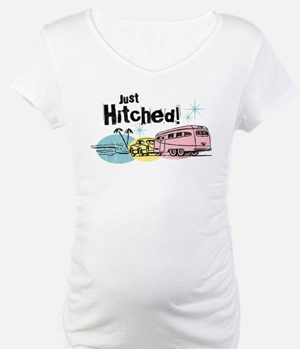Retro Trailer Just Hitched Shirt
