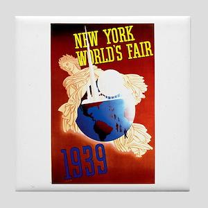 Vintage New York World's Fair Tile Coaster