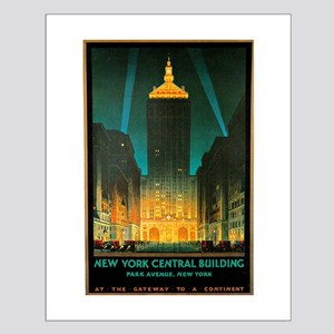 Vintage New York Central Building Small Poster