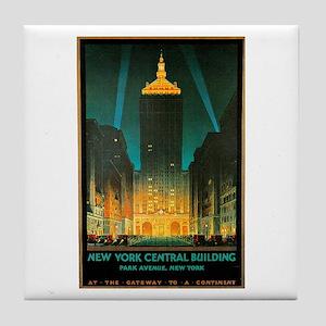 Vintage New York Central Building Tile Coaster
